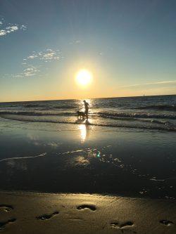 Heerlijk met de zonsondergang